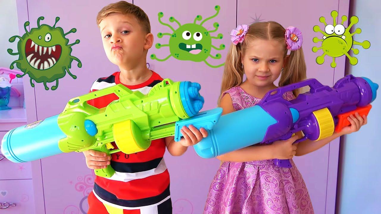 ديانا وقصة الأطفال حول الفيروسات