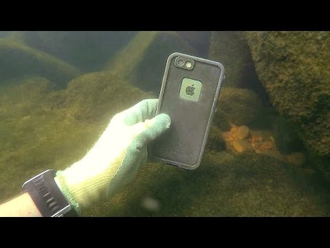 Found 3 GoPros, iPhone, Gun and Knives Underwater in River!