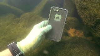 One of DALLMYD's most viewed videos: Found 3 GoPros, iPhone, Gun and Knives Underwater in River! - Best River Treasure Finds of 2016