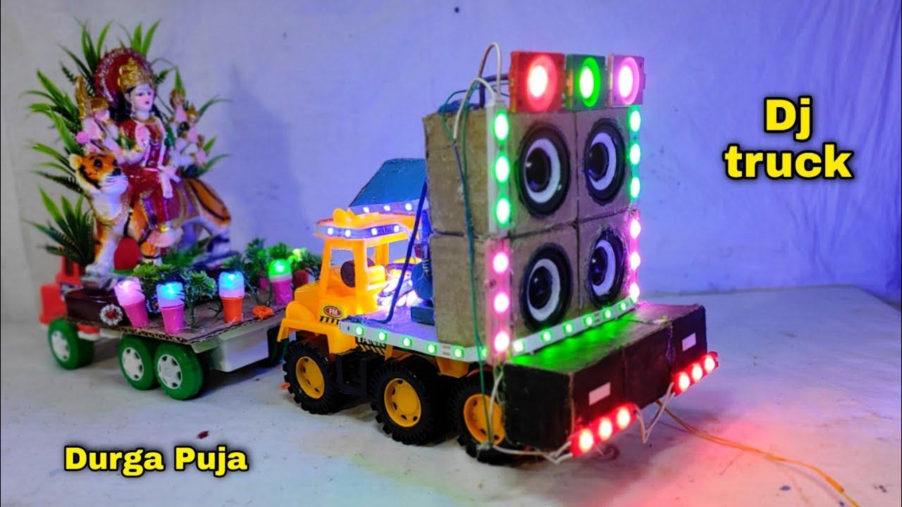 Navratri Durga Puja Dj gadi | Navratri Special Dj Truck light at Home 2021