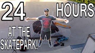 24 HOUR OVERNIGHT CHALLENGE AT THE SKATEPARK!