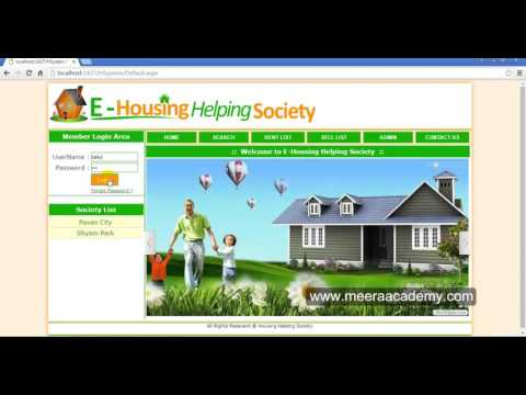 housing society management system project in asp.net c#