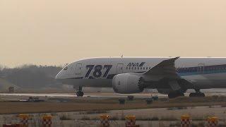 小松空港で撮影したANA Boeing 787-8 Dreamliner JA807A ランウェイ24エ...