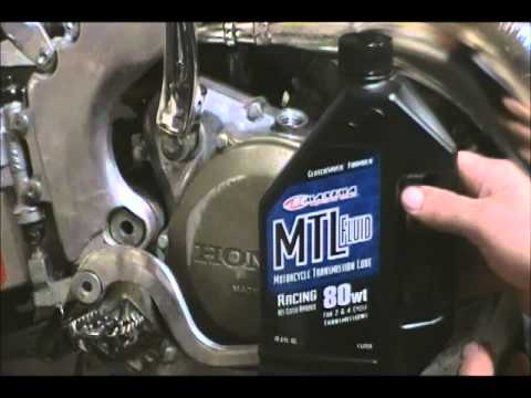cr 250 oil change youtube