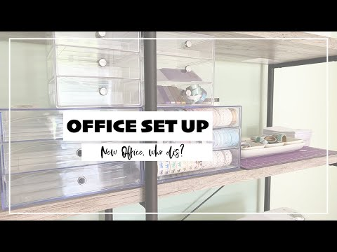 Office Set Up Speed Through | My New Office! thumbnail