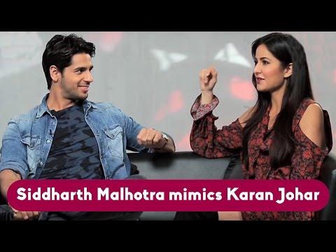 Siddharth Malhotra Mimics Karan Johar!!