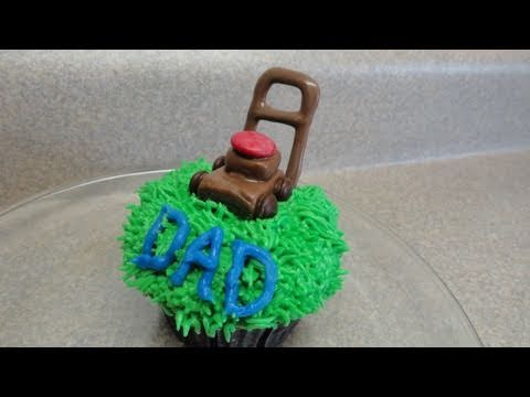 Decorating Cupcakes 45 Fathers Day The Lawnmower YouTube