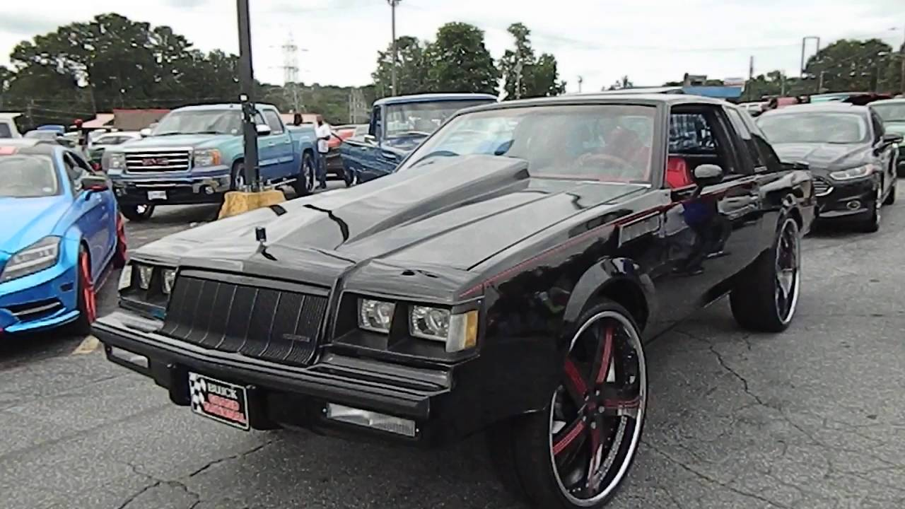 black buick grand national on dub wheels stunt world bbq. Black Bedroom Furniture Sets. Home Design Ideas