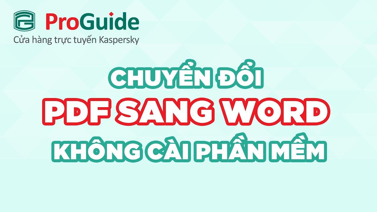 Phan Mem Pdf Sang Word Mien Phi