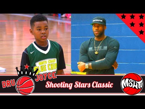 LeBron James CHEERS ON Youngest Son Bryce Maximus James - Dru Joyce Shooting Stars