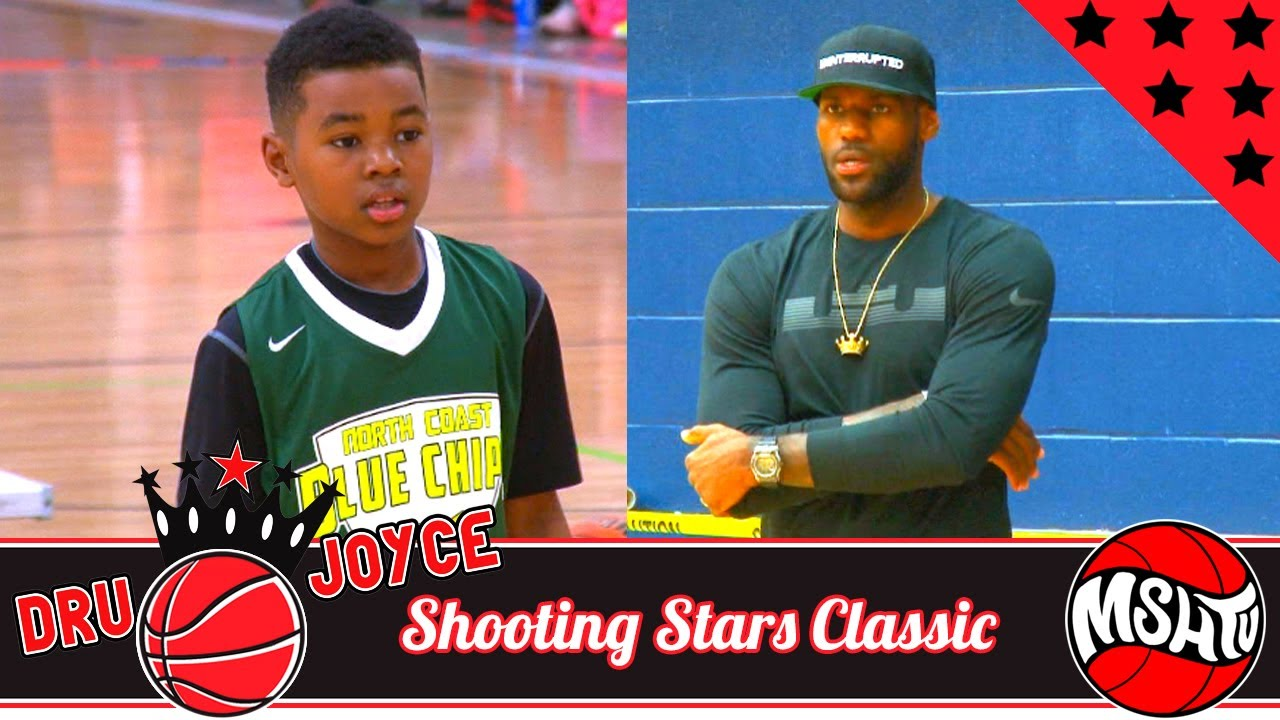 d408a39ecbc LeBron James CHEERS ON Youngest Son Bryce Maximus James - Dru Joyce  Shooting Stars