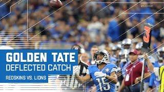 Golden Tate Catches the Ball After It Deflected Off Defender's Shoulder | Redskins vs. Lions | NFL