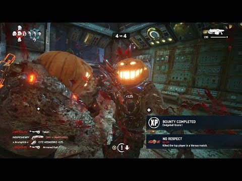 2 BONES AND A ROOT BEER! (Gears of War 4) Pumpkin Ball Gameplay With Ex Ghoal Army!