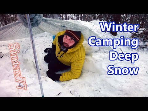 Winter Camping in a Snow Trench - Sub Zero Bivvy Bag Adventure