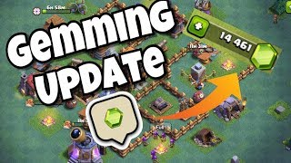 UNLOCKING BUILDER HALL 4! GEMMING CLASH OF CLANS UPDATE!
