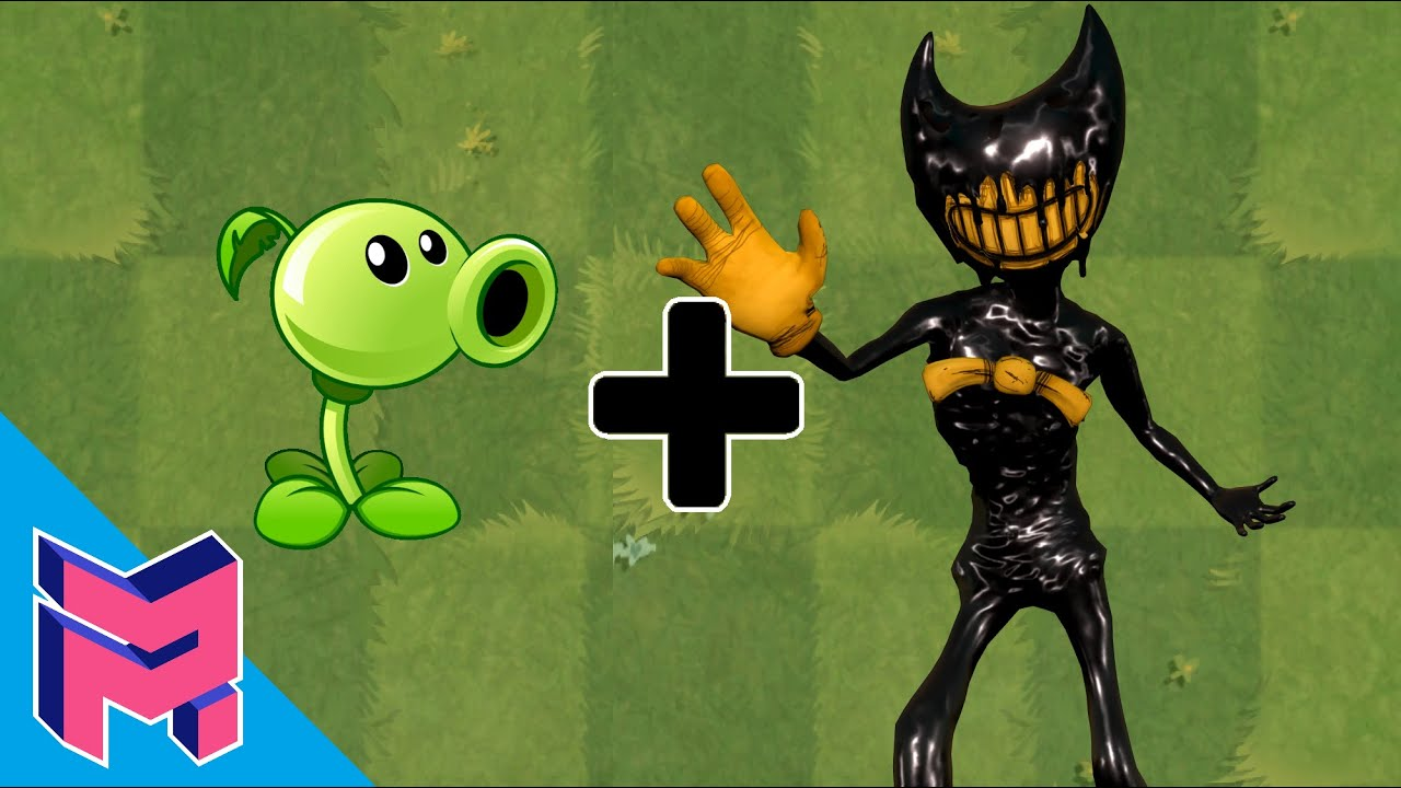 Bendy and the ink machine + Peashooter - Plants vs Zombies Animation