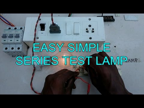 easy & simple series test lamp connection - in tamil english