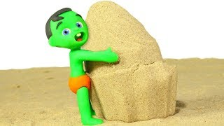Tommy Makes An Ice Cream In The Sand  💕cartoons For Kids