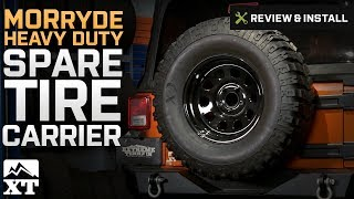 2007 2017 wrangler morryde heavy duty spare tire carrier jk review install