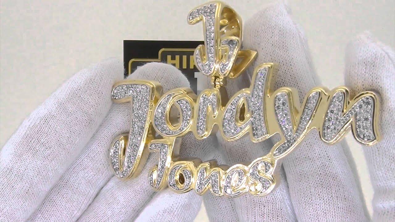Jordyn jones custom pendant gold bling youtube mozeypictures Image collections