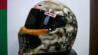 シンプソンヘルメットをカスタムペイント