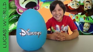Giant Disney TOY STORY PLAY-DOH Surprise Egg LEGO MINIFIGURES TSUM TSUM Blind Bags Toys figures!