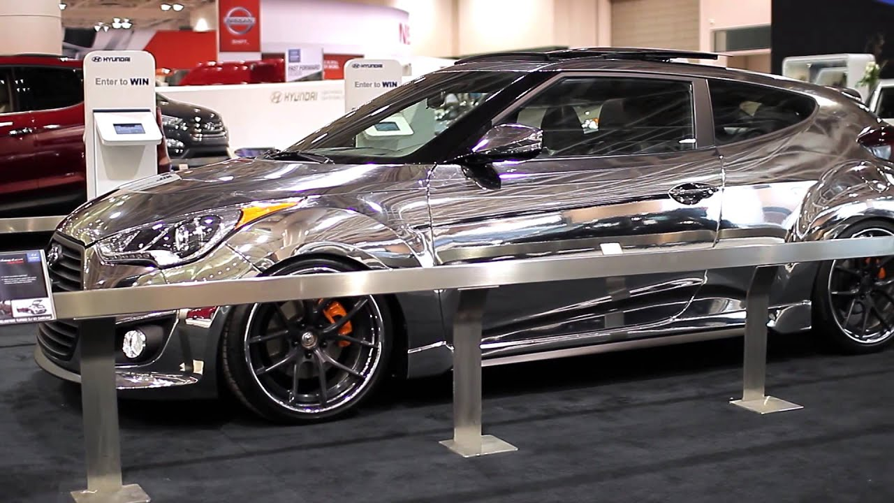 2013 Twin Cities Auto Show Chrome Wrapped Veloster Turbo Hyundai Intercooler Morries 394 Youtube