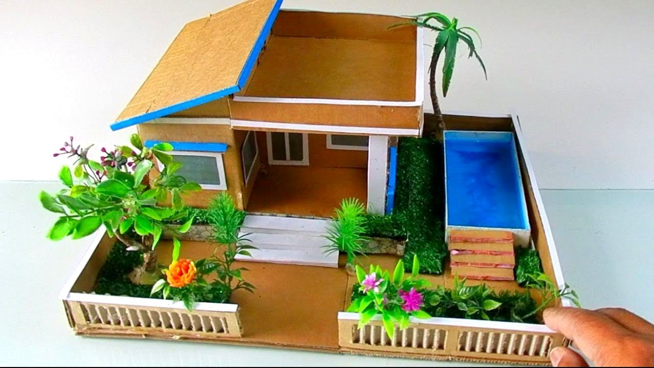 Building A Simple Cardboard House With Swimming Pool #61