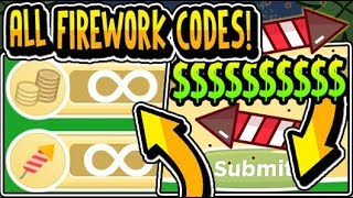 """🎆ALL SECRET FIREWORK SIMULATOR UPDATE CODES 2019!!"" 🎆Firework Simulator [NEW] Update (Roblox)"