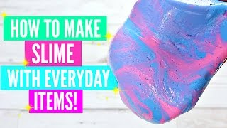 How To Make Slime With Everyday Home Ingredients// How To Make Slime Without Pure Borax !