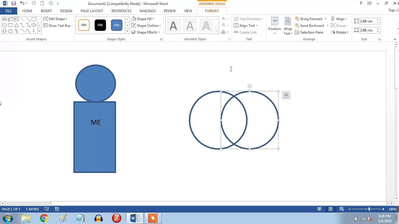 Cara Menggabungkan Gambar Grouping Di Microsoft Word 2013 Youtube