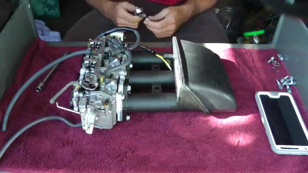 Yamaha 40hp 4stroke carburetor cleaning (PART 1) on