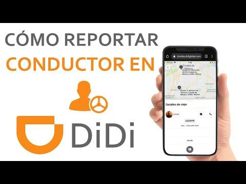 Cómo Reportar un Conductor en DIDI