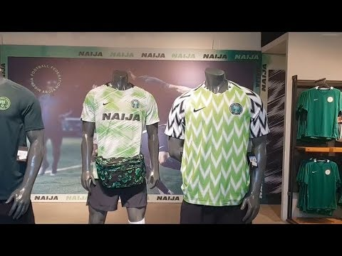 3b1f4e591 World Cup 2018: Nigeria fans search for hard-to-find jerseys - YouTube