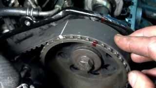 Nissan Bluebird 2.0 D Установочные метки ремня ГРМ(, 2013-08-21T02:02:05.000Z)