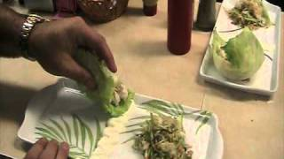 New Appetizer  Jumbo Lump Crab Lettuce Rollers With Wasabi Sour Cream Sauce