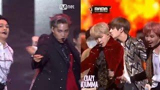 BTS vs EXO !   Dance Battle   MAMA 2016 - Stafaband