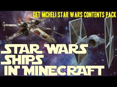 How To Add Star Wars Ships Into Minecraft - Download And Install MCHeli Star Wars Contents Pack