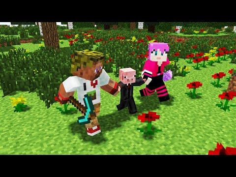 Видео: Диллерон и Миникотик. Свин и Лаки блоки. Minecraft Мультики Lucky Block