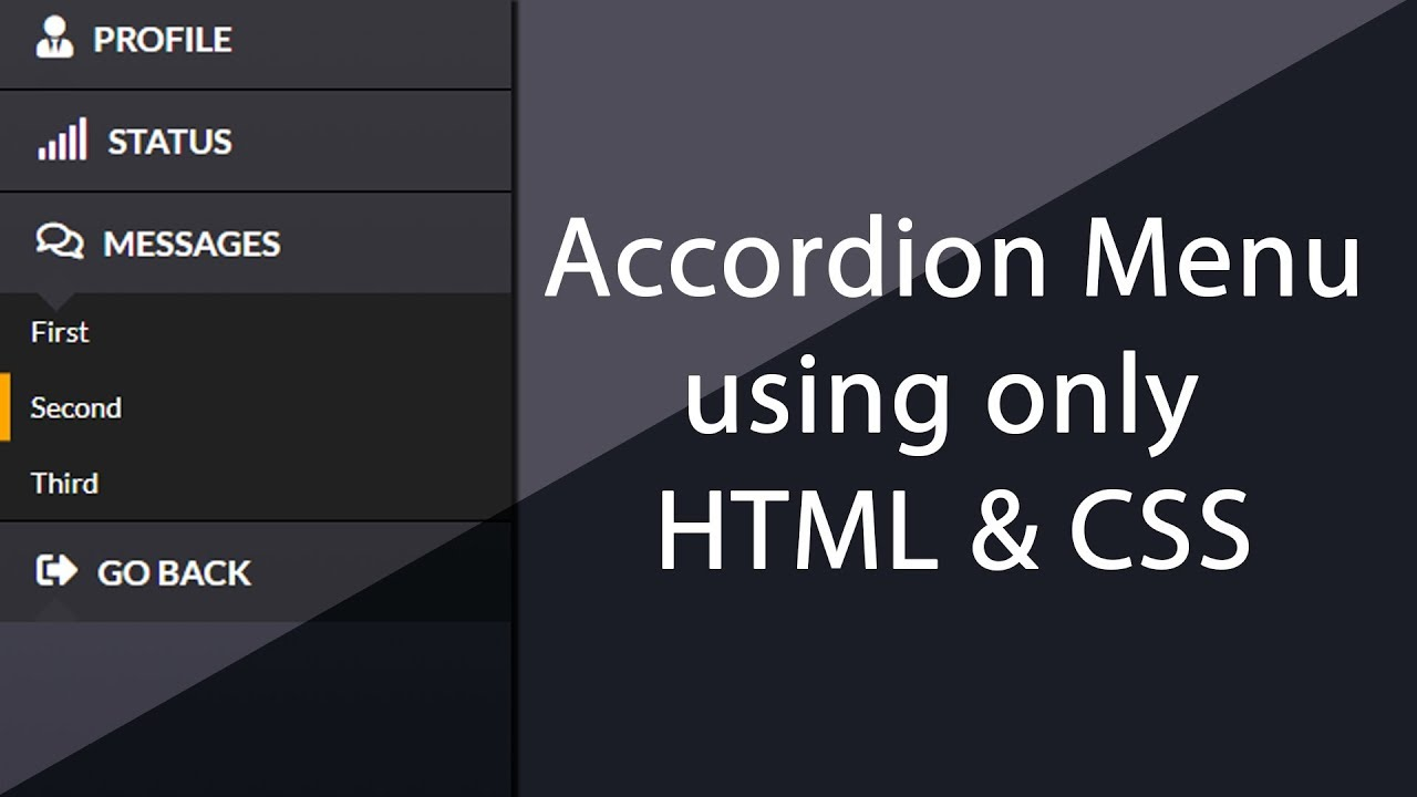 Simple Awesome Accordion menu using only HTML & CSS