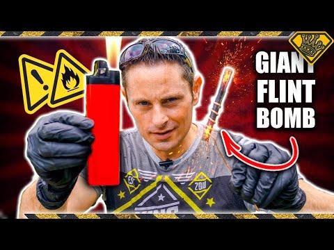 Making a GIANT Flint Bomb