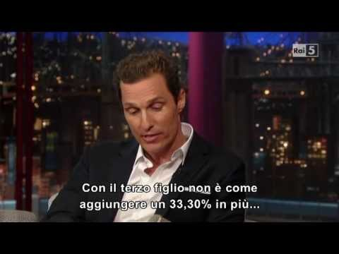 Matthew McConaughey @ David Letterman Show 22/04/13 SUB ITA