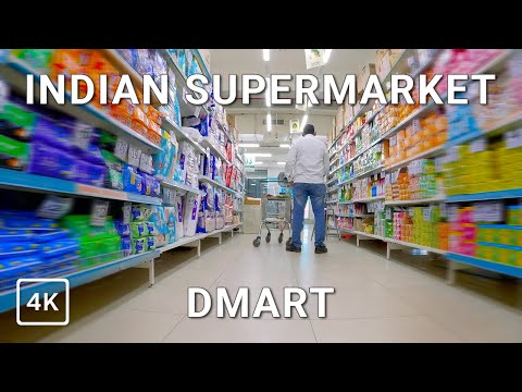 INDIAN SUPERMARKET TOUR 4K / DMart Tour Nanded   Grocery Shopping India