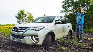 Зачем нужен Prado, когда есть Toyota Fortuner? Битва с бездорожьем + обзор 2018. Дизель автомат.