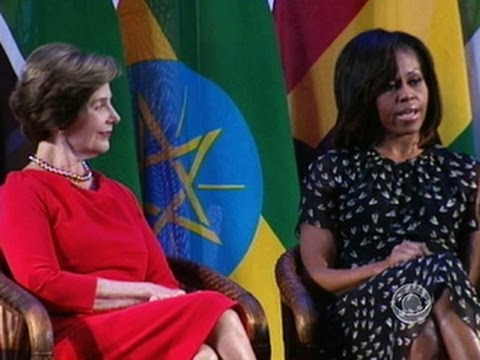 Laura Bush and Michelle Obama on being a first lady