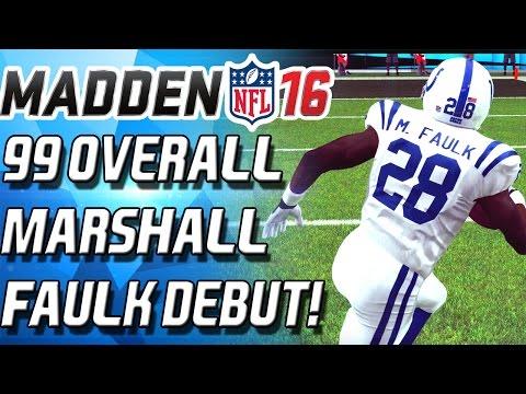 99 OVERALL MARSHAL FAULK DEBUT! - Madden 16 Ultimate Team