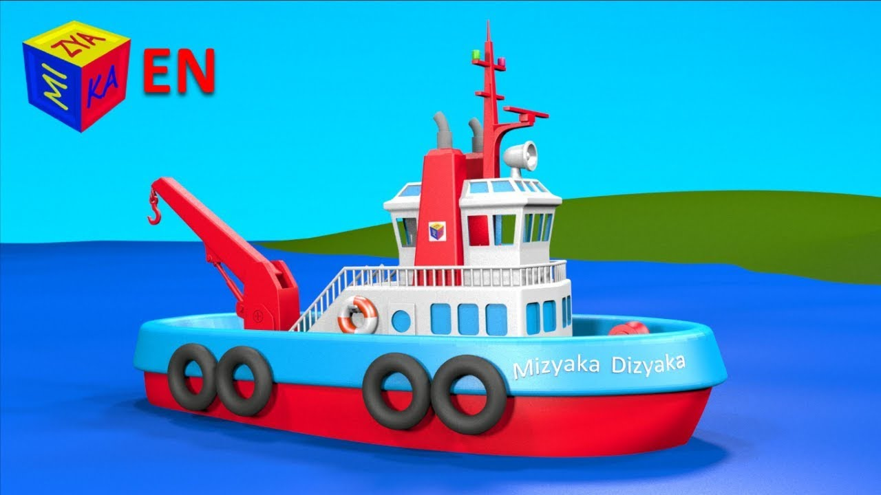 construction game tugboat educational videos cartoons for toddlers [ 1280 x 720 Pixel ]