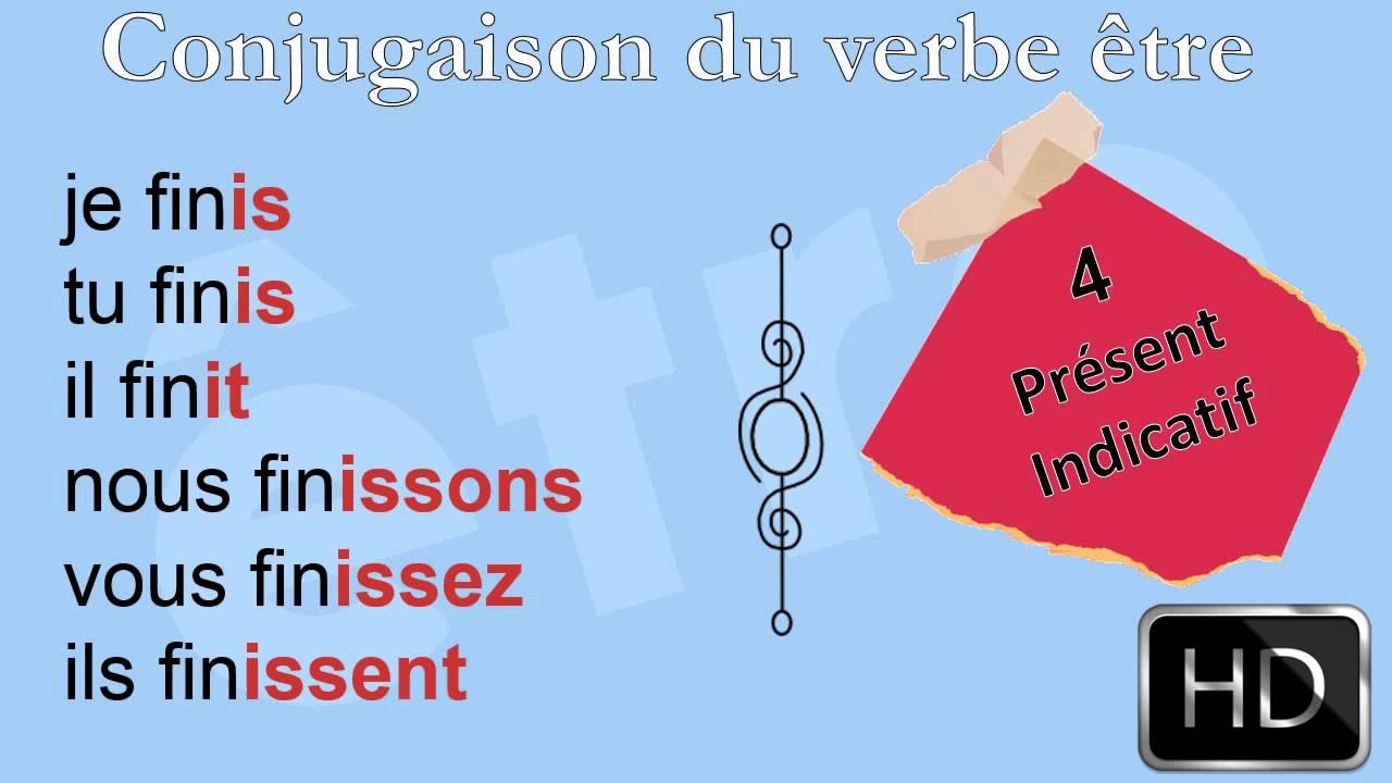 La Conjugaison Le Verbe Finir Indicatif Present Hd Youtube