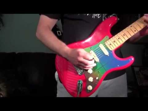 Custom fender stratocaster wcolor changing pick guard youtube sciox Images