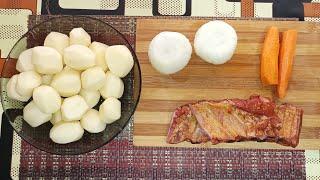 Рецепт тушёной картошки с копчёными рёбрышками Это блюдо станет вашим любимым
